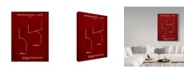 """Trademark Innovations Cole Borders 'Football Goal Post Red' Canvas Art - 32"""" x 24"""" x 2"""""""