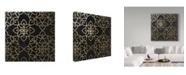 "Trademark Global Color Bakery 'Salima Gold Black' Canvas Art - 14"" x 14"" x 2"""