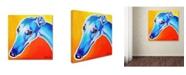 "Trademark Global DawgArt 'Lizzie' Canvas Art - 14"" x 14"" x 2"""