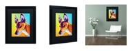 """Trademark Global DawgArt 'Pharoah Hound Linus' Matted Framed Art - 20"""" x 16"""" x 0.5"""""""