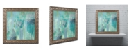 "Trademark Global Color Bakery 'Aqua Circumstance II' Ornate Framed Art - 16"" x 16"" x 0.5"""