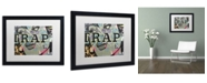 "Trademark Global Dan Monteavaro 'Trap' Matted Framed Art - 16"" x 20"" x 0.5"""