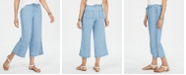 Style & Co Petite Embroidered Chambray Cropped Pants, Created for Macy's