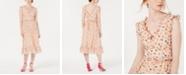 Betsey Johnson Ruffled Bug-Print A-Line Dress