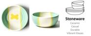 Coton Colors by Laura Johnson Mint Color Block Dog Bone Small Bowl