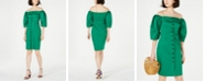 Vince Camuto Off-The-Shoulder Puff-Sleeve Dress