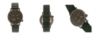 Simplify Quartz The 3600 Charcoal Dial, Genuine Green Leather Watch 40mm