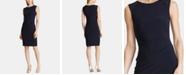 Lauren Ralph Lauren Lace-Trim Ruched Dress
