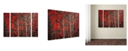 "Trademark Global Philippe Sainte-Laudy 'Hush Before Winter' Multi Panel Art Set Small - 32"" x 24"" x 2"""