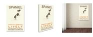 "Trademark Global Michelle Campbell 'Spaniel Print' Canvas Art - 24"" x 16"" x 2"""