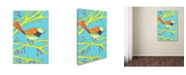 """Trademark Global Michelle Campbell 'Bird Design 1' Canvas Art - 19"""" x 12"""" x 2"""""""
