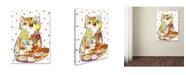 "Trademark Global Oxana Ziaka 'Coffee Cat 2' Canvas Art - 47"" x 35"" x 2"""