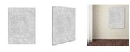 """Trademark Global Miguel Balbas 'Maze 6 Line' Canvas Art - 24"""" x 18"""" x 2"""""""