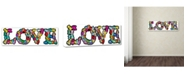 "Trademark Global Miguel Balbas 'Love Letters' Canvas Art - 10"" x 32"" x 2"""