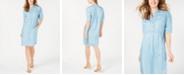 Lucky Brand Cotton Short-Sleeve Shirtdress