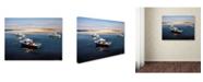 "Trademark Innovations Paul Walsh 'Cape Cod Fishing Boats' Canvas Art - 47"" x 35"" x 2"""