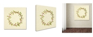 "Trademark Global Yachal Design 'Holly Wreath 100' Canvas Art - 24"" x 24"" x 2"""