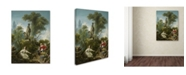 "Trademark Global Jean Honore Fragonard 'The Progress Of Love The Meeting' Canvas Art - 24"" x 18"" x 2"""