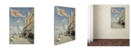 "Trademark Global Monet 'Hotel Des Roches Noires Trouville' Canvas Art - 19"" x 12"" x 2"""
