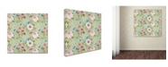 "Trademark Global Jean Plout 'Botanical Beauty 1' Canvas Art - 35"" x 35"" x 2"""