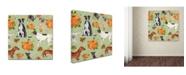 "Trademark Global Jean Plout 'Dogs In Pumpkin Patch 1' Canvas Art - 35"" x 35"" x 2"""