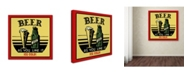 """Trademark Global Jean Plout 'Beer 8' Canvas Art - 24"""" x 24"""" x 2"""""""