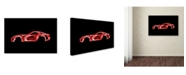 "Trademark Innovations Octavian Mielu 'Dodge Viper' Canvas Art - 32"" x 22"" x 2"""