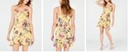 City Studios Juniors' Floral-Print Faux-Wrap Dress