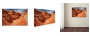 "Trademark Global Mike Jones Photo 'The Wave Classic View' Canvas Art - 32"" x 22"" x 2"""