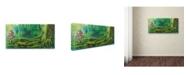 "Trademark Global Michelle Faber 'Forest Mushrooms' Canvas Art - 10"" x 19"" x 2"""