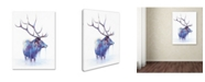"Trademark Global Michelle Faber 'Elk In Water' Canvas Art - 32"" x 24"" x 2"""