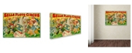 """Trademark Global Vintage Apple Collection 'Sells Circus' Canvas Art - 32"""" x 22"""" x 2"""""""