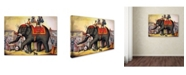 """Trademark Global Vintage Apple Collection 'Performing Elephant, 1874' Canvas Art - 24"""" x 18"""" x 2"""""""