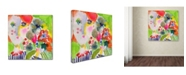 """Trademark Global Wyanne 'She Always Brought The Best Flowers' Canvas Art - 14"""" x 14"""" x 2"""""""