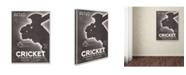 "Trademark Global Vintage Apple Collection 'Cricket Mens Hats' Canvas Art - 24"" x 18"" x 2"""