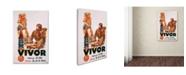 "Trademark Global Vintage Apple Collection 'Vivor' Canvas Art - 32"" x 22"" x 2"""