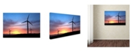"Trademark Global Robert Harding Picture Library 'Wind Turbines' Canvas Art - 19"" x 12"" x 2"""