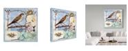 """Trademark Global Sher Sester 'Natural Bliss Birds Blue' Canvas Art - 24"""" x 24"""" x 2"""""""