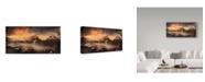 "Trademark Global Mikhaliuk Siarhei 'Tre Cime Di Lavaredo' Canvas Art - 24"" x 12"" x 2"""