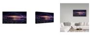 """Trademark Global Jesus M Garcia 'Milky Way Over Las Barrancas' Canvas Art - 24"""" x 2"""" x 12"""""""