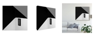 "Trademark Innovations Olavo Azevedo 'Black Window' Canvas Art - 18"" x 2"" x 18"""