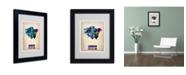 "Trademark Global Naxart 'London Watercolor Map 2' Matted Framed Art - 14"" x 11"" x 0.5"""