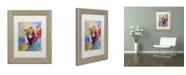 """Trademark Global Richard Wallich 'Longhorn' Matted Framed Art - 14"""" x 11"""" x 0.5"""""""