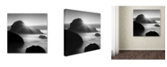"Trademark Global Moises Levy 'Long Sunset at Indian Beach' Canvas Art - 35"" x 35"" x 2"""