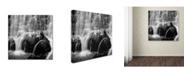 "Trademark Global Moises Levy 'Velo de Novia' Canvas Art - 14"" x 14"" x 2"""