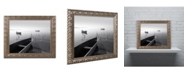 """Trademark Global Moises Levy 'Herons and 3 Boats' Ornate Framed Art - 14"""" x 11"""" x 0.5"""""""