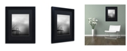 "Trademark Global Moises Levy 'Golden Gate and Birds' Matted Framed Art - 11"" x 14"" x 0.5"""