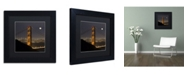 """Trademark Global Moises Levy 'Golden Gate and Moon' Matted Framed Art - 11"""" x 11"""" x 0.5"""""""