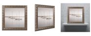 "Trademark Global Moises Levy 'Three Boats' Ornate Framed Art - 11"" x 11"" x 0.5"""