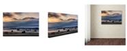 "Trademark Innovations Nina Pauli 'Autumn Morning' Canvas Art - 19"" x 12"" x 2"""